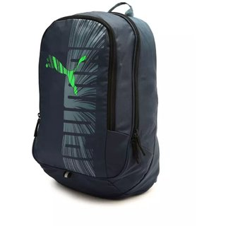 Buy Puma Blue And Green Casual Polyester 25 L Backpacks Online ... 2b5dc454d2cb8
