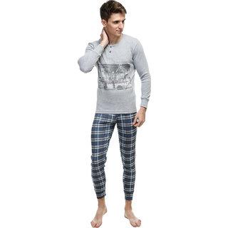 KOTTY Men's Thermal Top and Pyjama Set