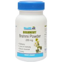 Buy 1 Get 1 Free HealthVit BRAMHIVIT Bramhi Powder 250g 60 Capsules (Pack Of 2)