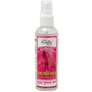 Organic Sunrise Natural Pure Rose Water/Gulab Jal 50 ml