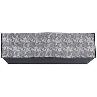 Glassiano Grey Printed AC Cover for Split Indoor Unit for 1.5 Ton