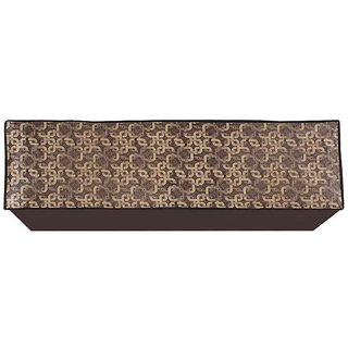 Glassiano Gold Printed AC Cover for Split Indoor Unit for 1.5 Ton