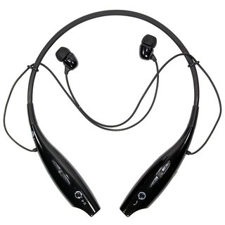 Shivsoft HBS-730 Bluetooth Stereo Headset for All Devices Black/White
