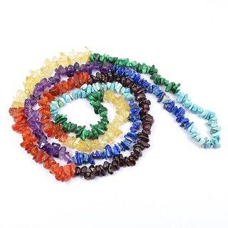 ASTROGHAR 7 Chakra Crystal Stone Chip Mala Healing Gemstone For Unisex