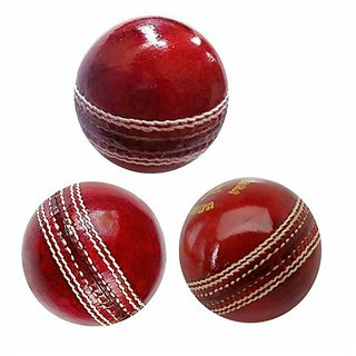 Queen sports red leather ball pack of 3