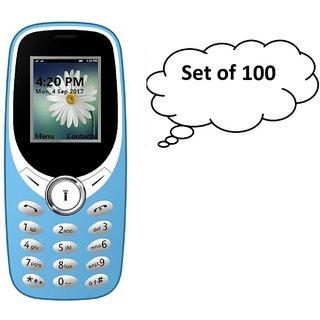 Set of 100  IKall K31 (1.8 Inch  Dual Sim  800mAh Battery  Made In India) Multimedia mobile