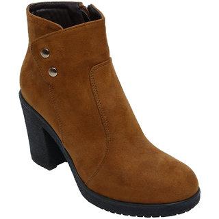 Catwalk Tan Ankle Length Cowboy Boots