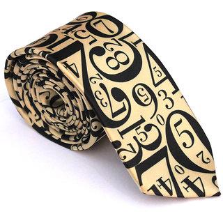 Urban Diseno Gold And Black Premium Quality Tie