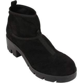 Catwalk Black Ankle Length Bootie Boots