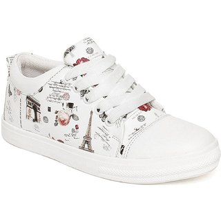 Clymb LS-9 White Perfect Women's Premium White Casual Shoes