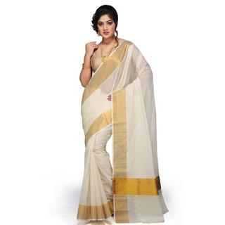 Selvamani tex kerala kasavu cotton saree