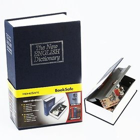 8 inch Tall Dictionary Book Safe Hidden Vault Tijori Piggy Bank with Keys for Home Office Jewellery