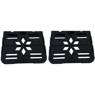 GoodsBazaar Set Top Box Stand PVC / Wi-fi Stand / Telephone Stand Pack of 2