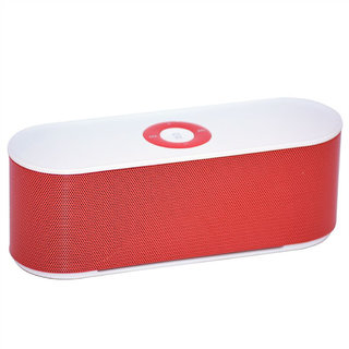 METTLE S207 Portable Bluetooth Speaker-Crystal Sound   Mp3 Player With TF Card FM Aux USB-Inbuilt Mic -MT-BTPS1713-RED