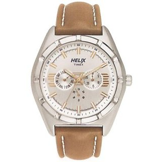 Helix Analog Silver Round Watch - TW029HG01