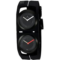 Titan Round Dial Black Silicone Strap Watch For Men