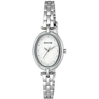 Sonata Quartz Grey Dial Women Watch-8148SM01