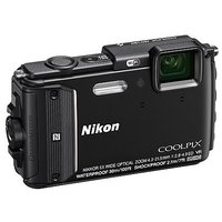 Nikon COOLPIX W300 Waterproof Digital Camera (Black) Wi