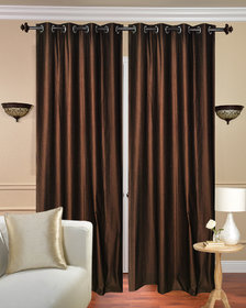 Daya Handloom Coffe Crush Door Curtain-Set of 2 (7x4FT)