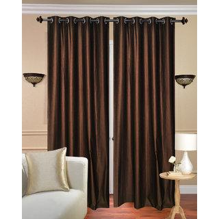 Daya Handloom Coffe Crush Door Curtain-Set of 2 (7x4FT)