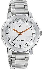 Fastrack Quartz White Dial Mens Watch-3121SM01