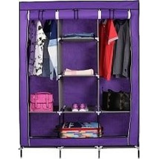Shopper52 Fancy Portable Fabric Collapsible Foldable Clothes Closet  Wardrobe Storage Rack Organizer Cabinet Cupboard A