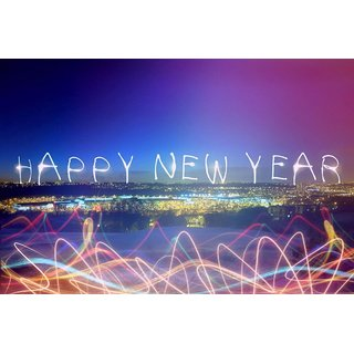 City Light on New year Poster