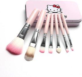 Hello Kitty Soft Makeup Brush and Applicator Set Of 7