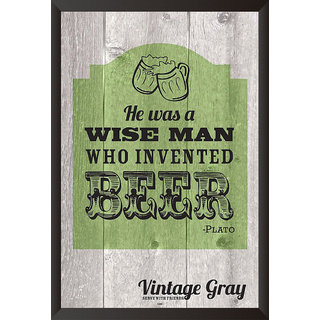 Buy Eja Art Wise Man Who Invented Beer Poster 12x18 Inches Online