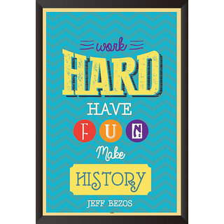 EJA Art Work Hard Poster (12x18 inches)