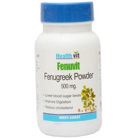 Buy 1 Get 1 Free  HealthVit FENUVIT Fenugreek Powder 500g 60 Capsule(Pack Of 2)