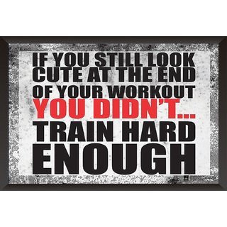 EJA Art Did You Train Hard Enough Today? Poster (12x18 inches)