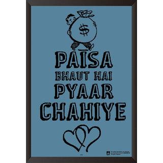 EJA Art Pyar Chahiye Poster (12x18 inches)