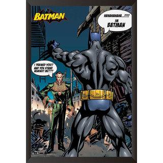 EJA Art Batman And Rasalghul The Urban Legend Comics Poster (12x18 inches)