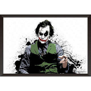 EJA Art Joker Heath Ledger Poster (12x18 inches)