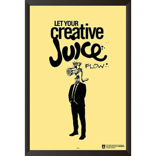 EJA Art Creative Juice Poster (12x18 inches)