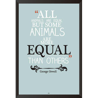 George Orwell Quote Poster