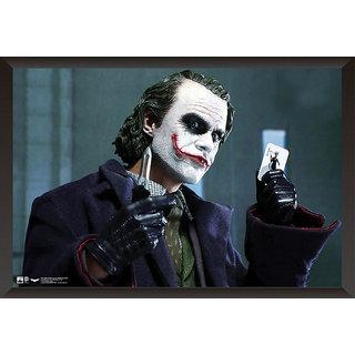 EJA Art Joker Heath Ledger Poster (12x18 inches) With Frame