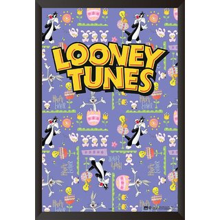 EJA Art   The Looney Tunes Show  and Buggs Bunny The Looney Tunes  Poster (12x18 inches)