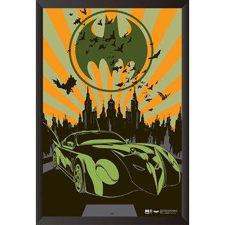EJA Art   Batmobile Poster Dcb Cool Trax Artwork  and Batman And Manbat The Urban Legend Comics  Poster (12x18 inches)