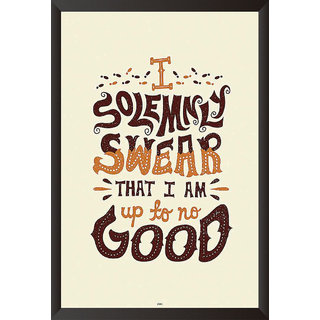 I Swear Quote Poster