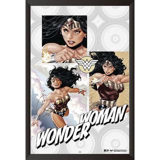 EJA Art Wonder Woman Comic Artwork Poster (12x18 Inches)