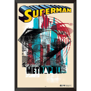 EJA Art Superman Comic Series Poster (12x18 Inches)
