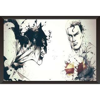 EJA Art Batman Vs Superman Comic Poster Official Artwork Poster (12x18 Inches)