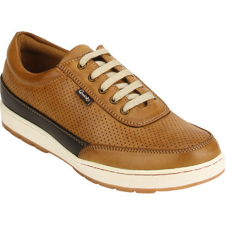 Quarks Mens Tan Synthetic Smart Casual Shoes