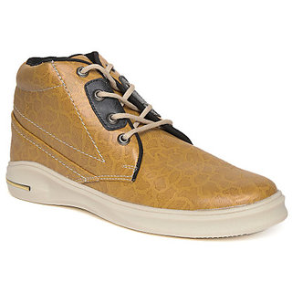 Quarks Mens Tan Synthetic High Ankle Casual Shoes