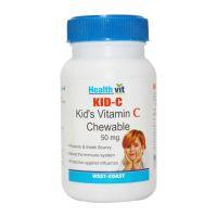 Buy 1 Get 1 Free HealthVit KID-C  Kid's Vitamin-C Chewable 60 Tablets(Pack Of