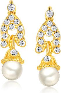 Shostopper Casual Alloy Gold Plated Australian Diamond Contemporary Drops Earring - SJ6061EN