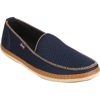 Quarks Mens Blue Smart Slip On Casual Shoes