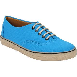 Quarks Men's Sky Blue Smart Canvas Casual Shoes